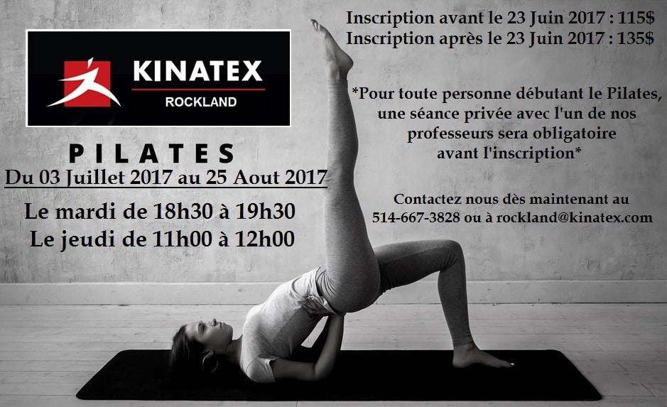 Pilates de groupe : Session Été 2017