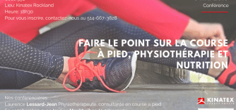 Conference: running, physiotherapy and nutrition!