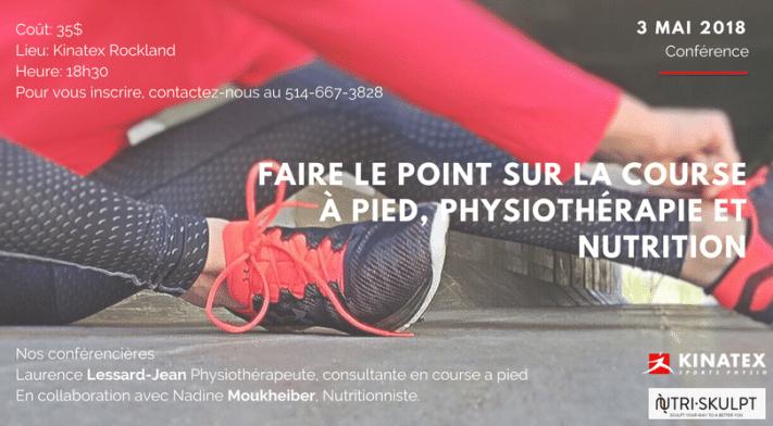 Conférence: faire le point sur la course à pied, physiothérapie et nutrition