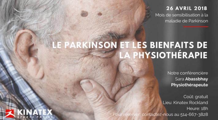 Conférence: le parkinson et les bienfaits de la physiotherapie!