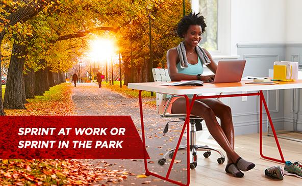 Sprint au travail ou sprint au parc...